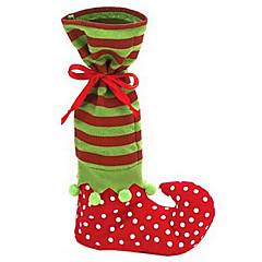 lindo papai noel suspensórios inicialização elf sapato calça saco do presente doces para o Natal decoração