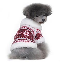 Psy Płaszcze Swetry Red Black Ubrania dla psów Zima Wiosna/jesień Płatek śniegu Klasyczny Zatrzymujący ciepło