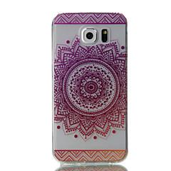 Dla samsung galaxy s7 krawędź s7 różowe kwiaty wzór wysoka przepuszczalność tpu materiał obudowa telefonu