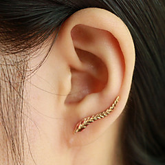 Damskie Kolczyki na sztyft Ear Cuffs Modny Elegancki biżuteria kostiumowa Leaf Shape Skrzydła / Feather Biżuteria Na Codzienny Casual