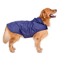 강아지 레인 코트 강아지 의류 방수 방풍 솔리드 다크 블루 레드