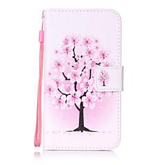 Voor lg k10 k8 hoesje hoesje bloem boom patroon schilderen kaart stent pu leer voor k7 ls770 ls775 v20