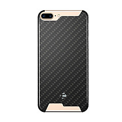 Til iPhone 8 iPhone 8 Plus iPhone 7 iPhone 6 iPhone 5 etui Etuier Stødsikker Bagcover Etui Geometrisk mønster Hårdt Karbonfiber for Apple