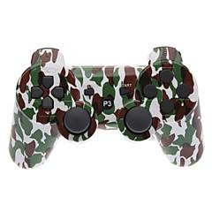 Brown és Zöld Camouflage Dual-Shock Bluetooth V4.0 vezeték nélküli kontroller PS3
