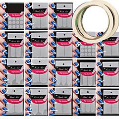 18 padrão diferente ferramenta de tomada de nail art padrão de dar 2pcs prego fita adesiva arte