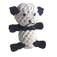 Kattelegetøj Hundelegetøj Kæledyrslegetøj Bide Legetøj Tandrensende legetøj Reb Panda Vævet