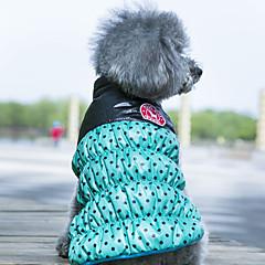 Koirat Takit Liivi Koiran vaatteet Käännettävä Pidä Lämmin Pistekuvio Keltainen Punainen Vihreä