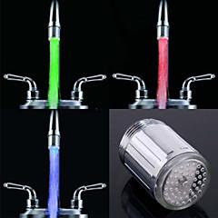 RC-f902 세련된 물 흐름 화려한 발광 LED가 빛을 수도꼭지 등 (플라스틱, 크롬 마무리)