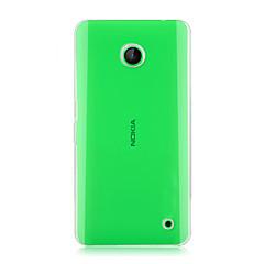 For Nokia etui Transparent Etui Bagcover Etui Helfarve Hårdt PC for Nokia Nokia Lumia 630