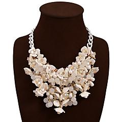 Dames Verklaring Kettingen Legering Bloemvorm Bohemia Style verklaring Jewelry Wit Geel Rood Blauw Regenboog SieradenBruiloft Feest