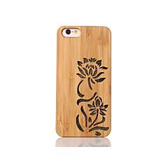 Voor Schokbestendig Reliëfopdruk Patroon hoesje Achterkantje hoesje Bloem Hard Bamboe voor Apple iPhone 6s/6