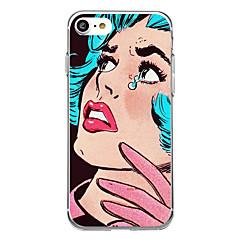 Για Εξαιρετικά λεπτή Με σχέδια tok Πίσω Κάλυμμα tok Σέξι κυρία Μαλακή Καουτσούκ για AppleiPhone 7 Plus iPhone 7 iPhone 6s Plus/6 Plus