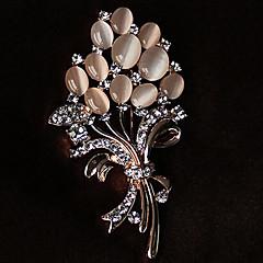 Broszki Rhinestone Kwiaty biżuteria kostiumowa Kryształ górski Opal Stop Biżuteria Na Impreza Casual