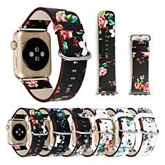 Banda de relogios para Apple Watch Series 1 2 38mm Banda de fermento clássica de 42mm e faixa de reposição de couro genuíno