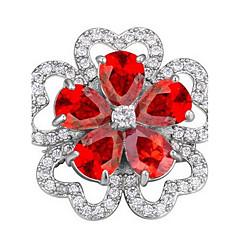 Dame Brocher Smykker Unikt design Blomstret Personaliseret Euro-Amerikansk Zirkonium Legering Smykker Smykker Til Fest Daglig Afslappet