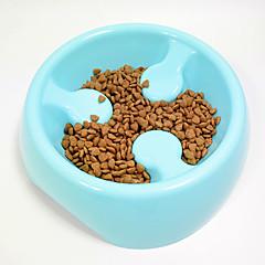 قط كلب الطاسات وزجاجات حيوانات أليفة السلطانيات والتغذية مقاوم للماء المحمول أحمر أخضر أزرق