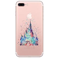 Na iPhone X iPhone 8 Etui Pokrowce Przezroczyste Wzór Etui na tył Kılıf Rysunek Miękkie Poliuretan termoplastyczny na Apple iPhone X
