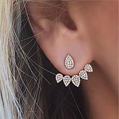 Dames Oorknopjes Voor achter gestileerde oorbellen Bergkristal Kostuum juwelen Modieus Euramerican Legering Traan Sieraden Voor Feest