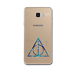 samsung a3 (2017) a5 (2017) A7 (2017) A8 esetben fedelet ultravékony mintázat hátlap esetében geometrikus minta puha TPU Samsung a3