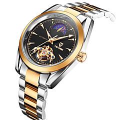 Tevise Heren Voor Stel Modieus horloge mechanische horloges Kwarts Kalender Waterbestendig Lichtgevend Roestvrij staal BandVintage