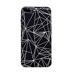 Til iPhone X iPhone 8 Etuier Mønster Bagcover Etui Flise Linjeret / bølget Geometrisk mønster Blødt TPU for Apple iPhone X iPhone 8 Plus