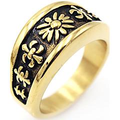 Heren Dames Ring Vintage Euramerican Elegant Kostuum juwelen Roestvast staal Sieraden Voor Verjaardag Kerstcadeaus