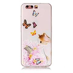 Huawei p10 p10 plusz dombornyomott pillangó macska minta kiváló minőségű TPU puha telefon esetében p10 lite P9 P9 lite S5 ii társ 9 P8