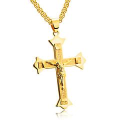 Heren Hangertjes ketting Driehoekige vorm Titanium Staal Kostuum juwelen Kruis Opvallende sieraden Sieraden Voor Feest Verjaardag