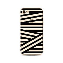 Hoesje voor iphone 7 plus 7 hoesje transparant patroon achterhoes hoesjes / golven patroon soft tpu voor iphone 6s plus 6 plus 6s 6 se 5s