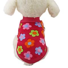 강아지 코트 티셔츠 맨투맨 스웻티셔츠 강아지 의류 캐쥬얼/데일리 패션 스트라이프 로즈 브라운 레드 블루 줄무늬