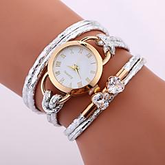 여성용 아동 패션 시계 팔찌 시계 독특한 창조적 인 시계 캐쥬얼 시계 중국어 석영 방수 PU 밴드 캐쥬얼 창의적 우아한 화이트 블루 레드