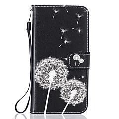 Etui til apple iphone 7 7 plus dækning kort indehaveren tegnebog rhinestone med stativ flip mønster fuld krops tilfælde mælkebøtte hårdt