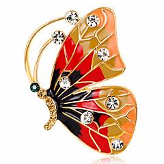 Damen Broschen Strass Basis Modisch Vintage individualisiert Luxus-Schmuck Simple Style Klassisch Elegant Krystall Diamantimitate Aleación