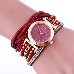 Dames Modieus horloge Armbandhorloge Unieke creatieve horloge Gesimuleerd Diamant Horloge Chinees Kwarts imitatie Diamond PU Band