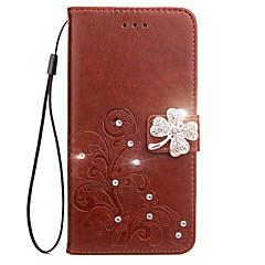 Hoesje voor Sony Xperia Z5 Z4 hoesje hoesje kaarthouder portemonnee strass met tribune flip reliëf full body hoesje bloem hard pu leer