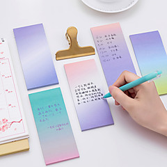 1 pc 그라디언트 색상 자체 스틱 노트 40 페이지 (임의 색상)