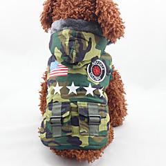Koira Takit Koiran vaatteet Muoti USA / USA Naamiointiväri