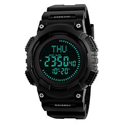 SKMEI Herre Sportsur Militærur Modeur Armbåndsur Unik Creative Watch Digital Watch Japansk Digital LED Kompas Kalender Kronograf