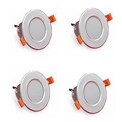 4 stuks 5w 500lm led downlights lampen 3000k / 4000k / 6500k led lamp voor thuis en kantoor ac85-265v