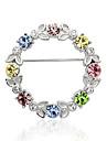 Lureme®multicolor Austrian Crystal Wreath Brooch