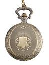 여성의 고전 합금 아날로그 석영 주머니 시계 (청동)