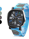 Unisex Army Green Style Rubber Analog Quartz Wrist Watch (Assorted Colors) Cool Watch Unique Watch