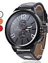 Мужские кварцевые аналоговые PU наручные часы (черный)