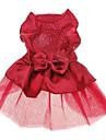 Caes Vestidos Vermelho Azul Roupas para Caes Verao Primavera/Outono Cor Unica Paetes Casamento Ferias Da Moda