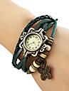 Женские Модные часы Часы-браслет Кварцевый PU Группа Бабочка Богемные Черный Синий Коричневый Зеленый