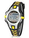 아동 스포츠 시계 디지털 시계 LCD 달력 크로노그래프 경보 디지털 고무 밴드 블랙 레드 오렌지 그린 핑크 노란색