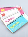 uma semana notebook bobina plano (cor aleatória)