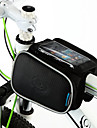 """ROSWHEEL Portable Bicycle Front Bag with Case for Mobile Phone Less Than 4.8"""""""
