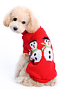 개 스웨터 레드 강아지 의류 겨울 솔리드 귀여운 / 따뜻함 유지 / 크리스마스