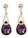 Earring Drop Earrings Jewelry Women Daily / Casual Alloy / Rhinestone Gold / White